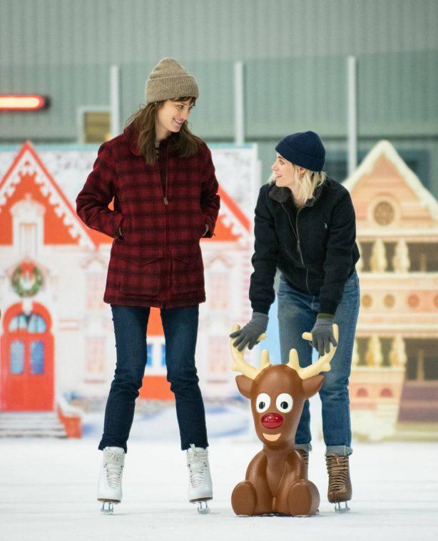 Kristen Stewart and Mackenzie Davis - Happiest Season stills (2020)