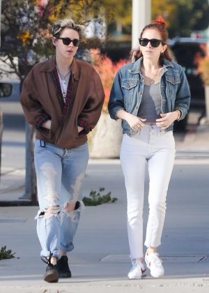 Kristen Stewart and Sara Dinkin in Jeans - Out in Los Angeles