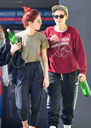 Kristen Stewart and Sara Dinkin - Leaving a gym in Hollywood