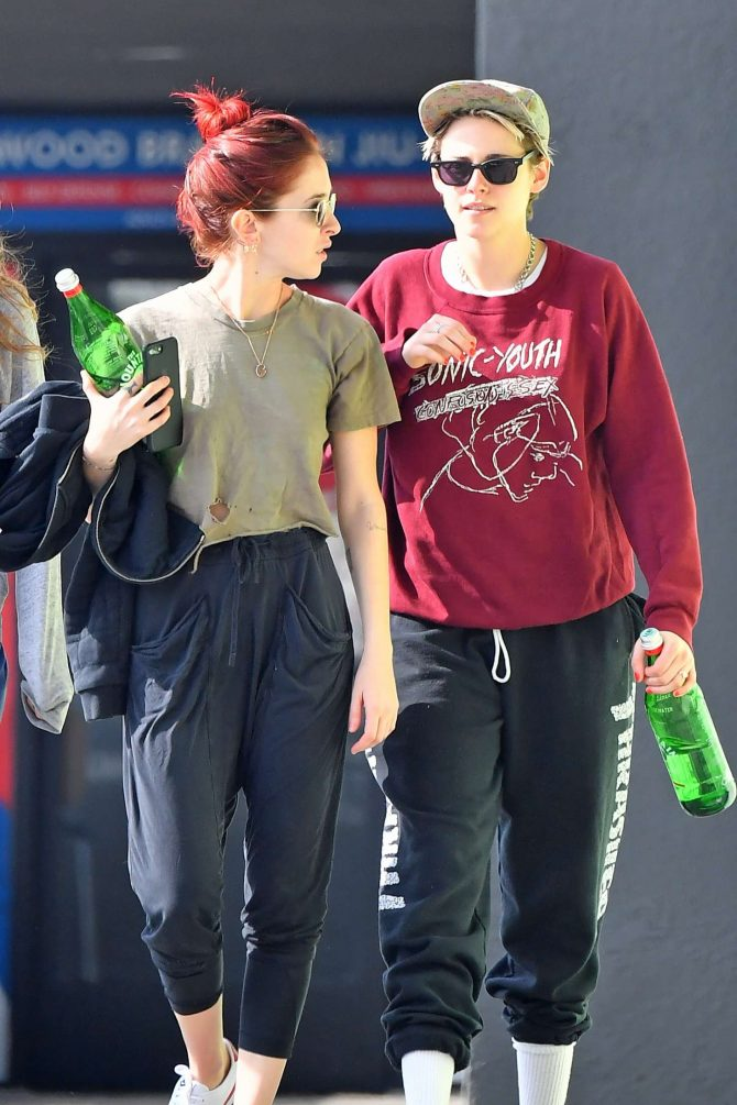 Kristen Stewart and Sara Dinkin - Leaving a gym in Hollywood