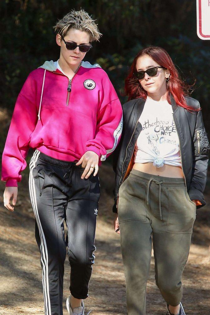 Kristen Stewart and Sara Dinkin - Out for a hike in Los Feliz