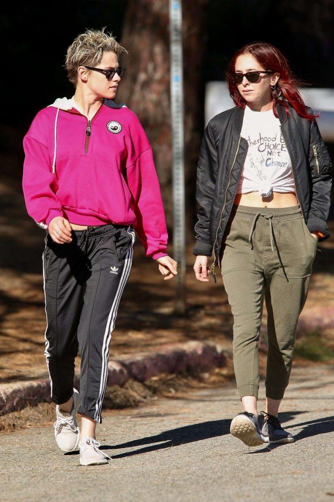 Kristen Stewart and Sara Dinkin: Out for a hike in Los Feliz -10