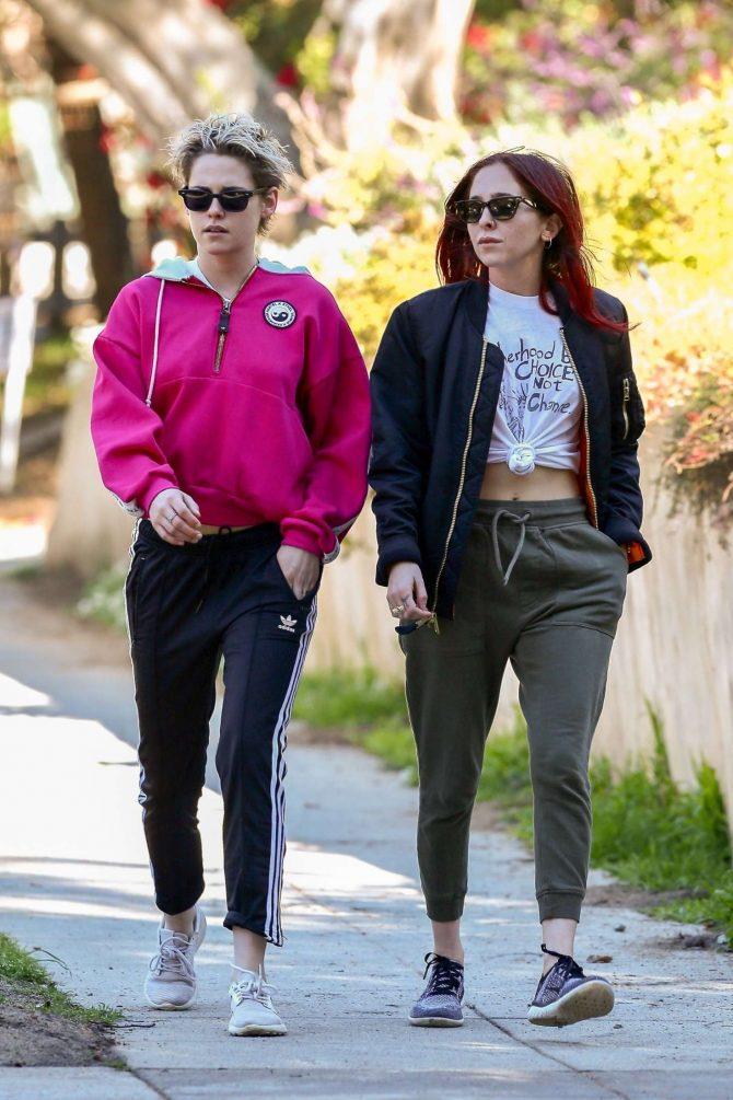 Kristen Stewart and Sara Dinkin: Out for a hike in Los Feliz -11