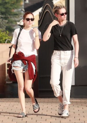 Kristen Stewart and Sara Dinkin - Out in Los Angeles