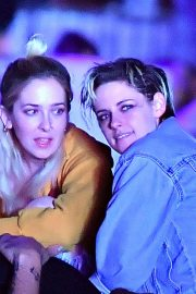 Kristen Stewart and Sarah Dinkin at Coachella in Indio