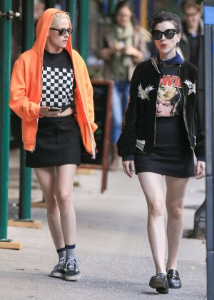 Kristen Stewart and St. Vincent out in New York City