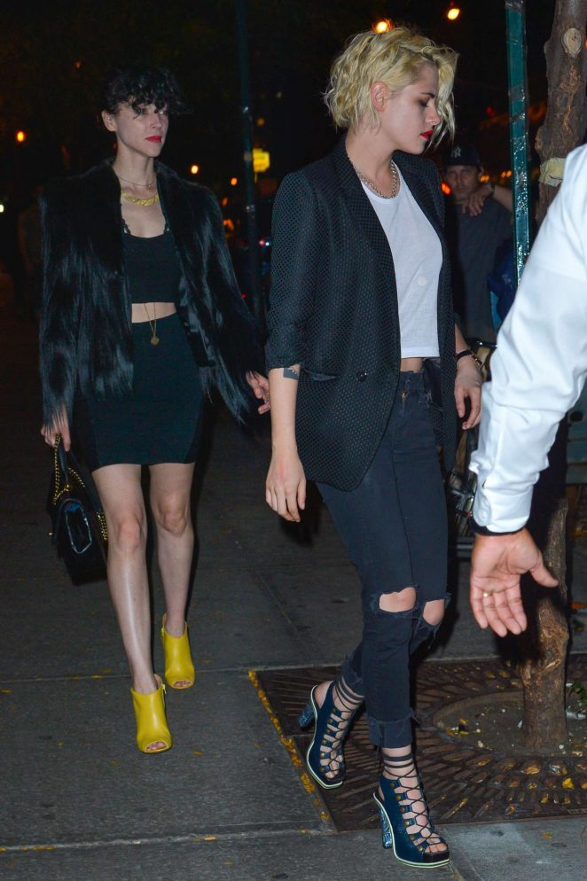 Kristen Stewart and St. Vincent out in New York
