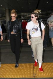 Kristen Stewart and Stella Maxwell - Arrives at LAX International Airport in LA