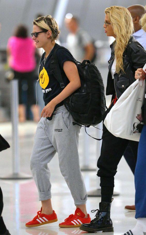 Kristen Stewart and Stella Maxwell – Arriving at JFK Airport-37