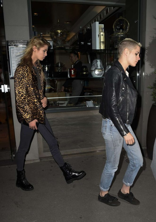 Kristen Stewart and Stella Maxwell at Caviar Kaspia -12