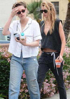 Kristen Stewart and Stella Maxwell - Headed to a local grocery store in Los Feliz