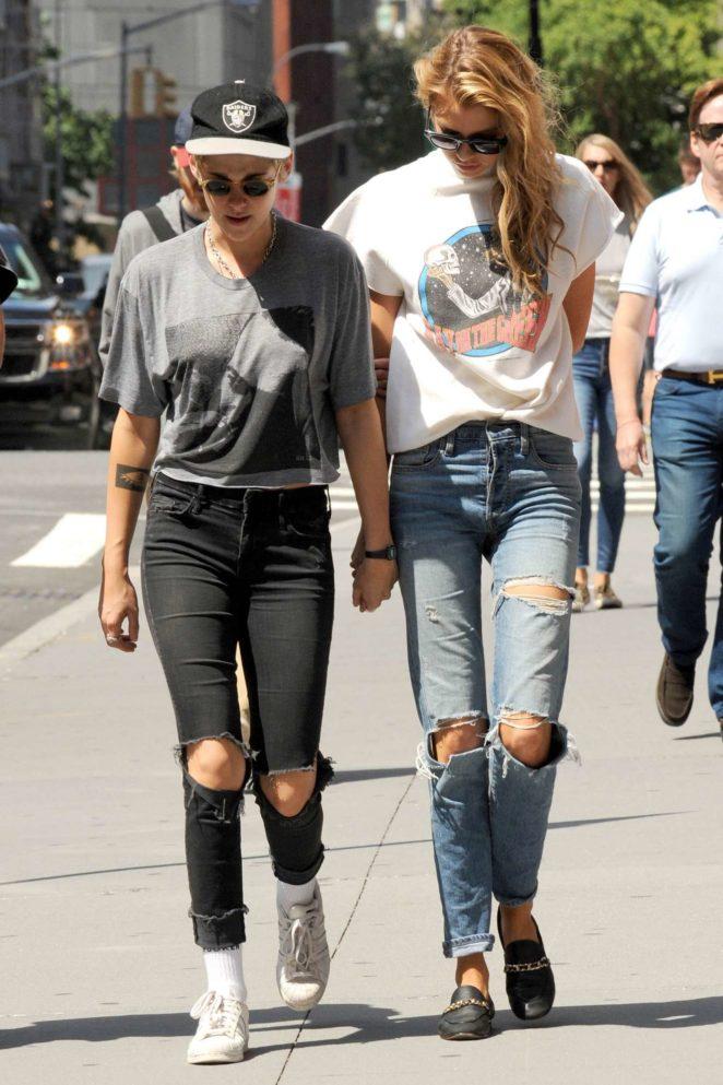Kristen Stewart and Stella Maxwell - Hold Hands While Taking a Walk in Manhattan