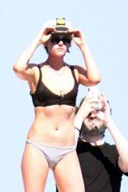 Kristen Stewart and Stella Maxwell in Bikini on the yacht at the Amalfi Coast
