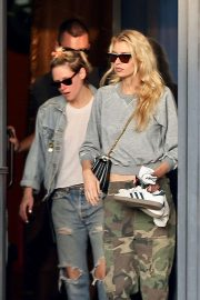 Kristen Stewart and Stella Maxwell - Leaves the nail salon in LA