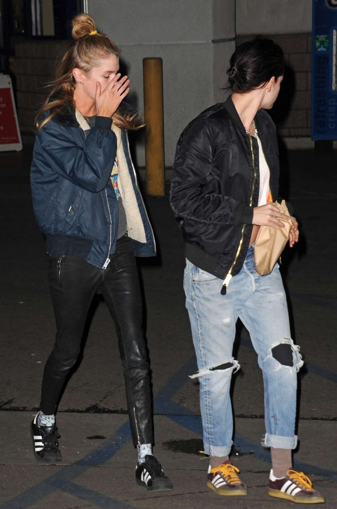 Kristen Stewart and Stella Maxwell - Leaving a Hollywood drug store