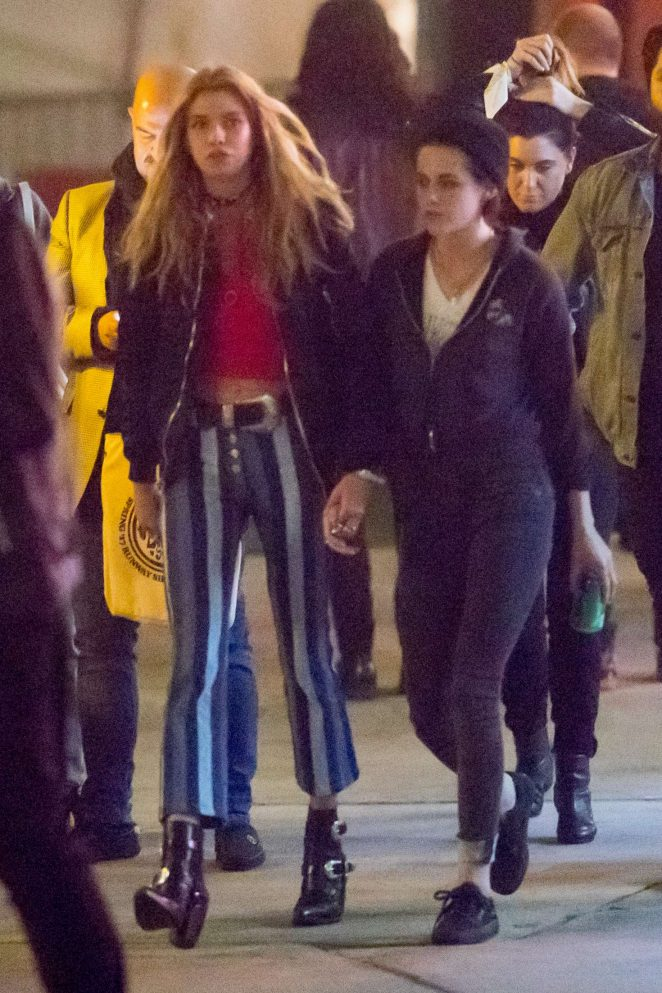 Kristen Stewart and Stella Maxwell - Leaving the Tommy Hilfiger 'Tommyland' show in Venice