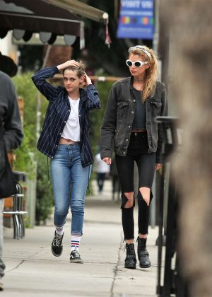 Kristen Stewart and Stella Maxwell - Out and about in Los Angeles
