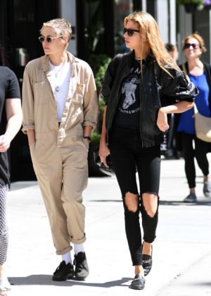 Kristen Stewart and Stella Maxwell - Out for lunch in New York City
