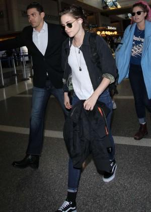 Kristen Stewart - Arriving at LAX in Los Angeles