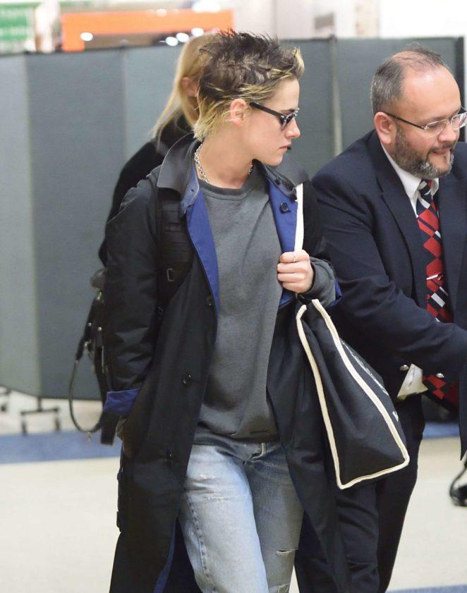 Kristen Stewart at JFK Airport in New York