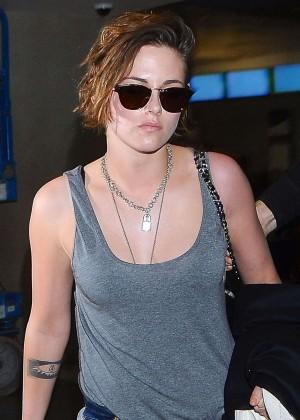 Kristen Stewart at LAX Airport in LA