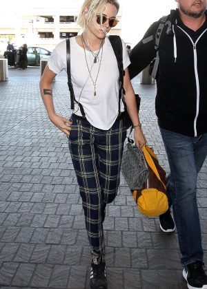 Kristen Stewart at Los Angeles International Airport
