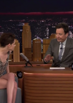Kristen Stewart at The Tonight Show starring Jimmy Fallon in NYC