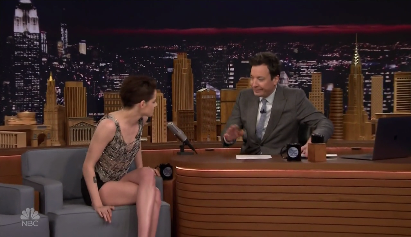 Kristen Stewart At The Tonight Show Starring Jimmy Fallon