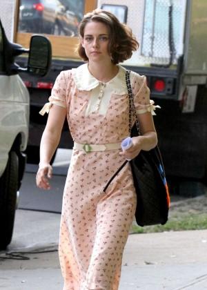 Kristen Stewart - Filming New Woody Allen's Movie in NY