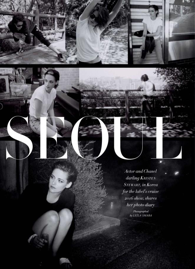 Kristen Stewart: Harpers Bazaar Australia 2015 -01