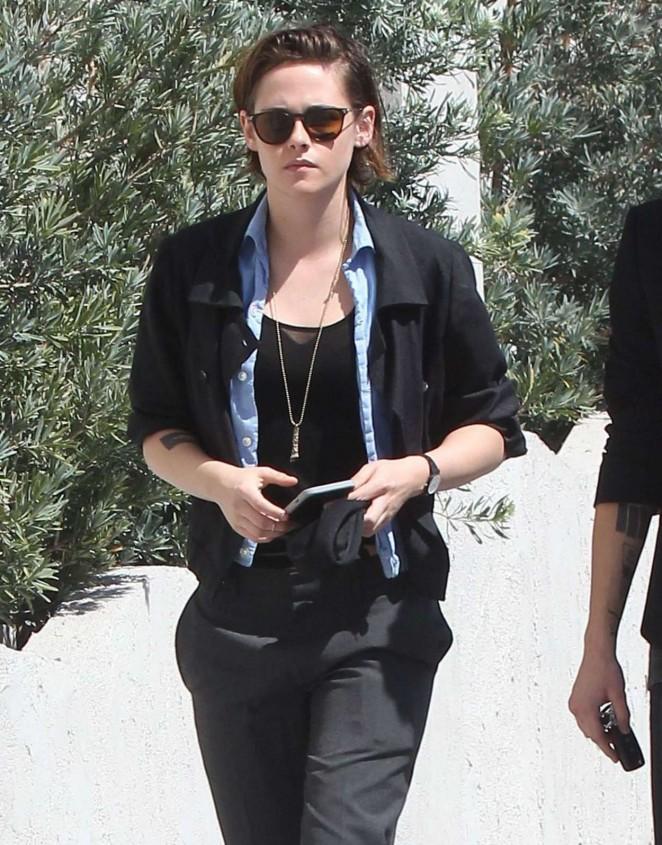 Kristen Stewart - Heading To Richard Glatzer Memorial Service in West Hollywood