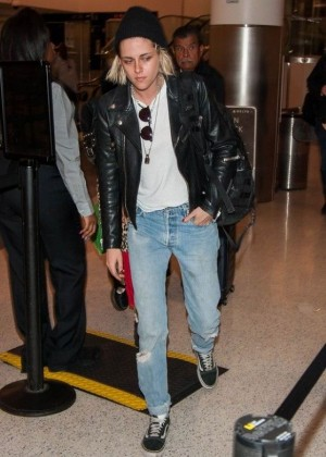 Kristen Stewart in Jeans at LAX Airport in LA