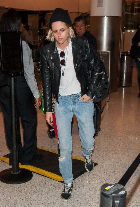 Kristen Stewart in Jeans at LAX Airport in LA