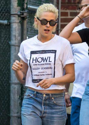 Kristen Stewart in Jeans out in Soho New York