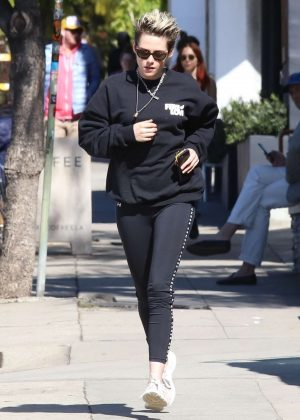 Kristen Stewart in Leggings - Out in Los Angeles