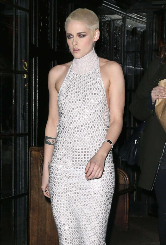 Kristen Stewart in Long Dress Leaving her Hotel in NYC