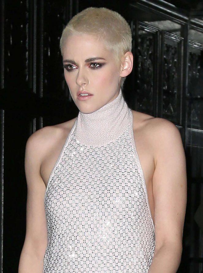 Kristen Stewart in Long Dress Leaving her Hotel -25