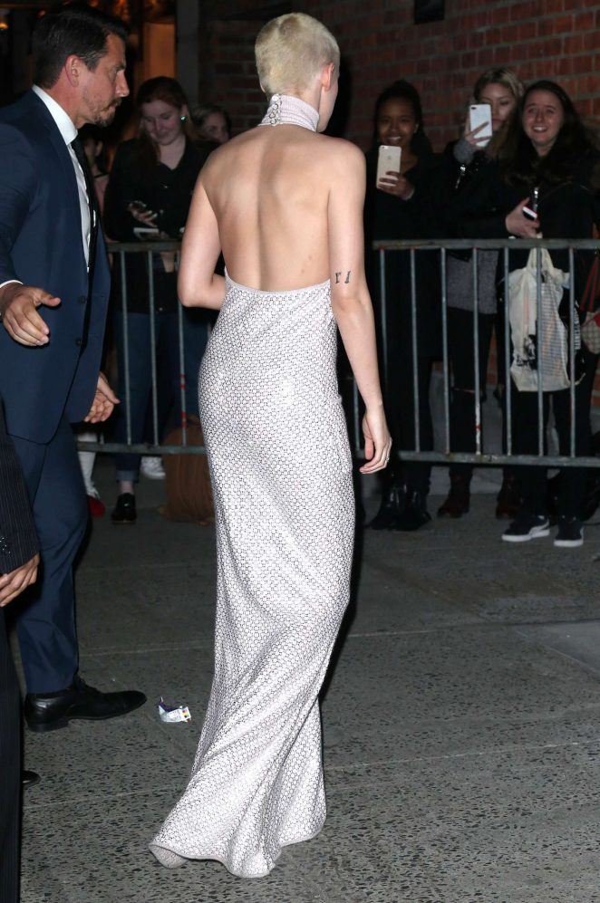 Kristen Stewart in Long Dress Leaving her Hotel -27