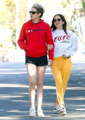 Kristen Stewart in Shorts with Sara Dinkin - Out in Los Angeles