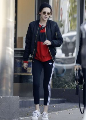 Kristen Stewart in Tights Out and about in Beverly Hills