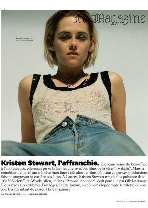 Kristen Stewart - Le Magazine du Monde (May 2016)