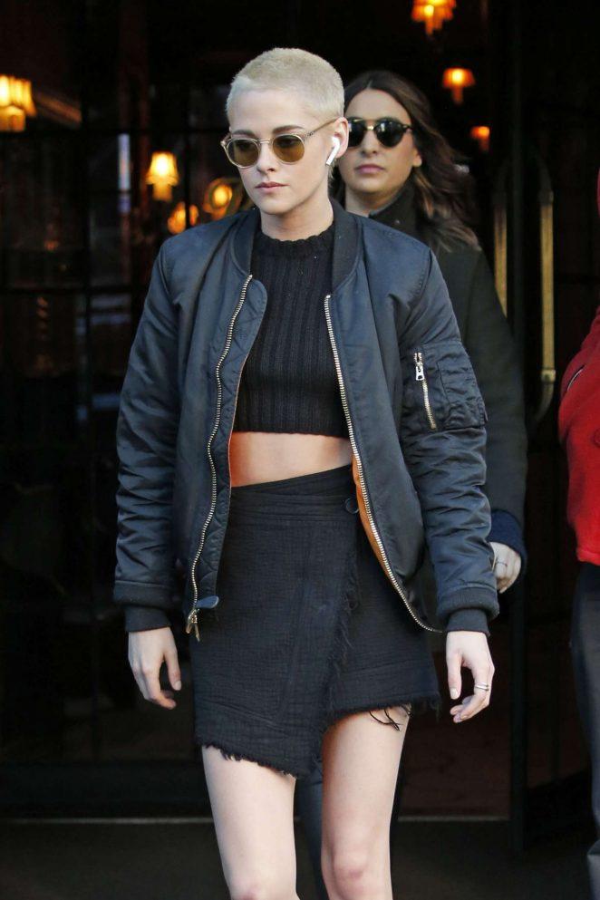 Kristen Stewart Leaving her hotel in New York City