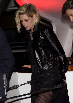 Kristen Stewart - Leaving the Paul Allen Party in Cannes