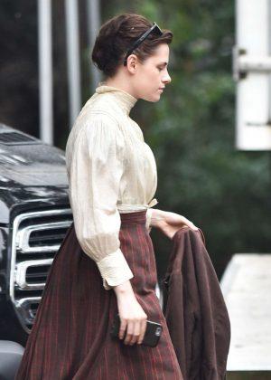 Kristen Stewart on set of the 'Untitled Lizzie Borden Project' in Savannah