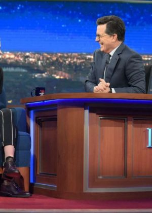 Kristen Stewart on 'The Late Show with Stephen Colbert' in New York