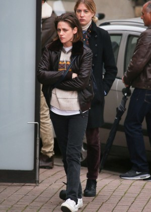 Kristen Stewart - On the Set of 'Personal Shopper' in France