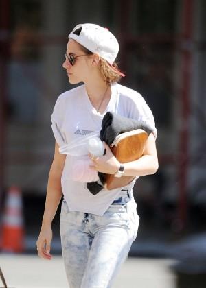 Kristen Stewart - On the set of the new Woody Allen movie in Chinatown