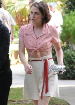 Kristen Stewart on The Set of Woody Allen Movie