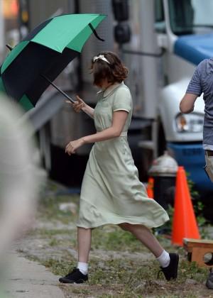 Kristen Stewart - On The Set Of Woody Allen Movie