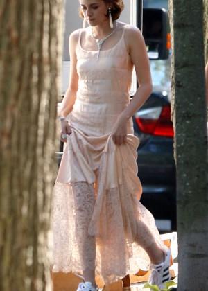 Kristen Stewart - On Woody Allen movie in Battery Park
